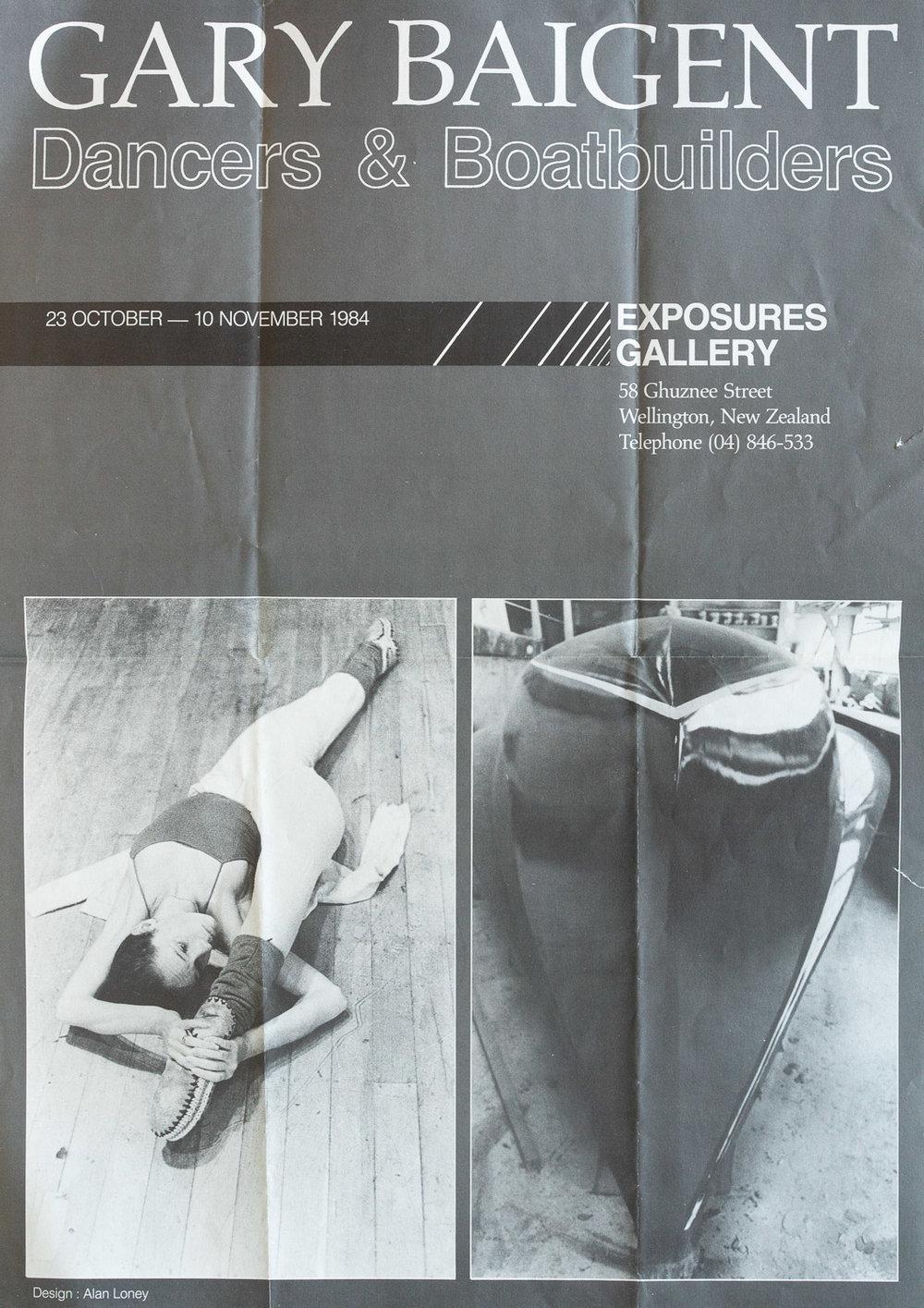 Gary BaigentDancers & Boatbuilders23 October – 10 November, 1984. Design: Alan Loney
