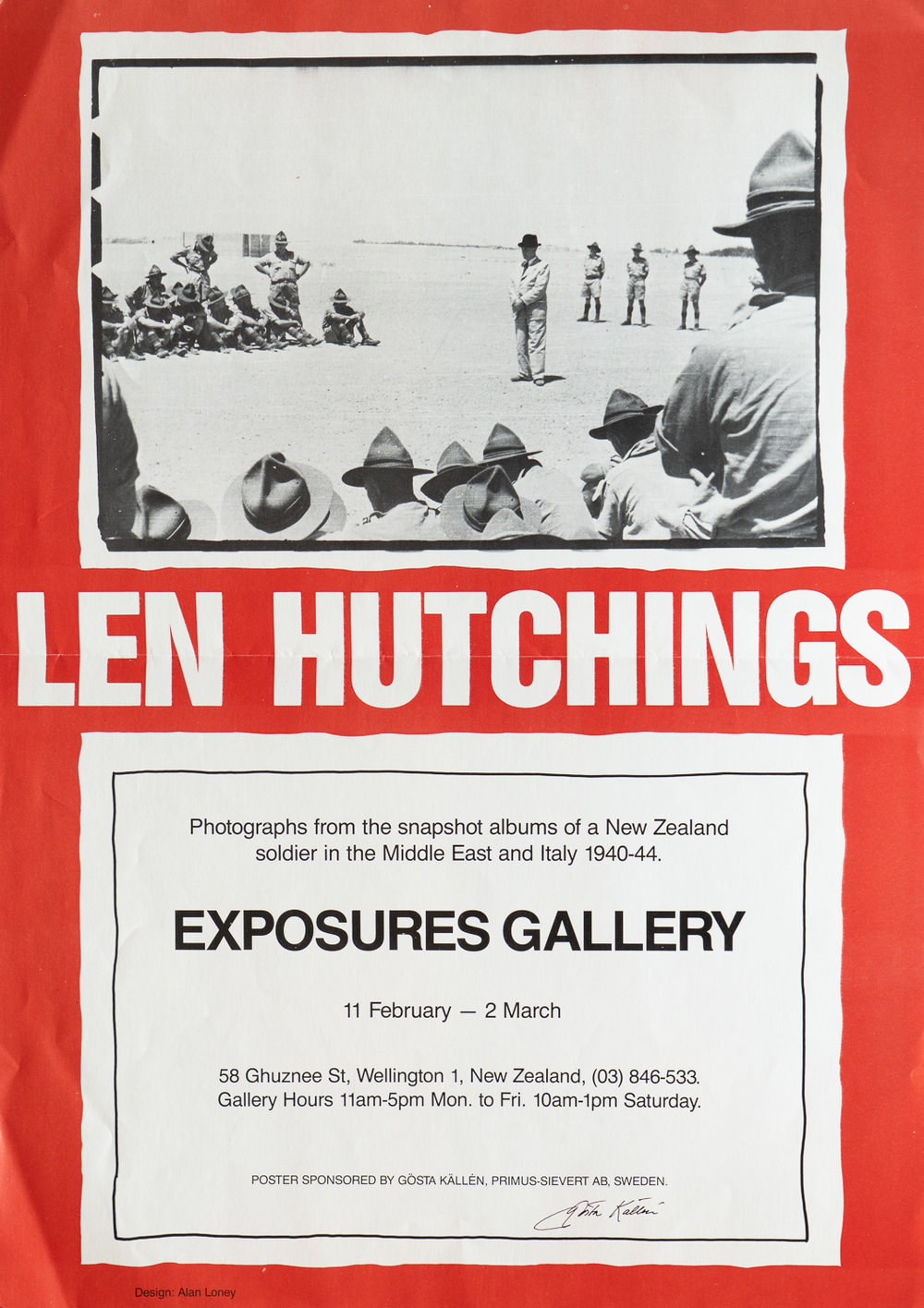 Len Hutchings33211 - Chocolate Soldier11 February – 2 March, 1985