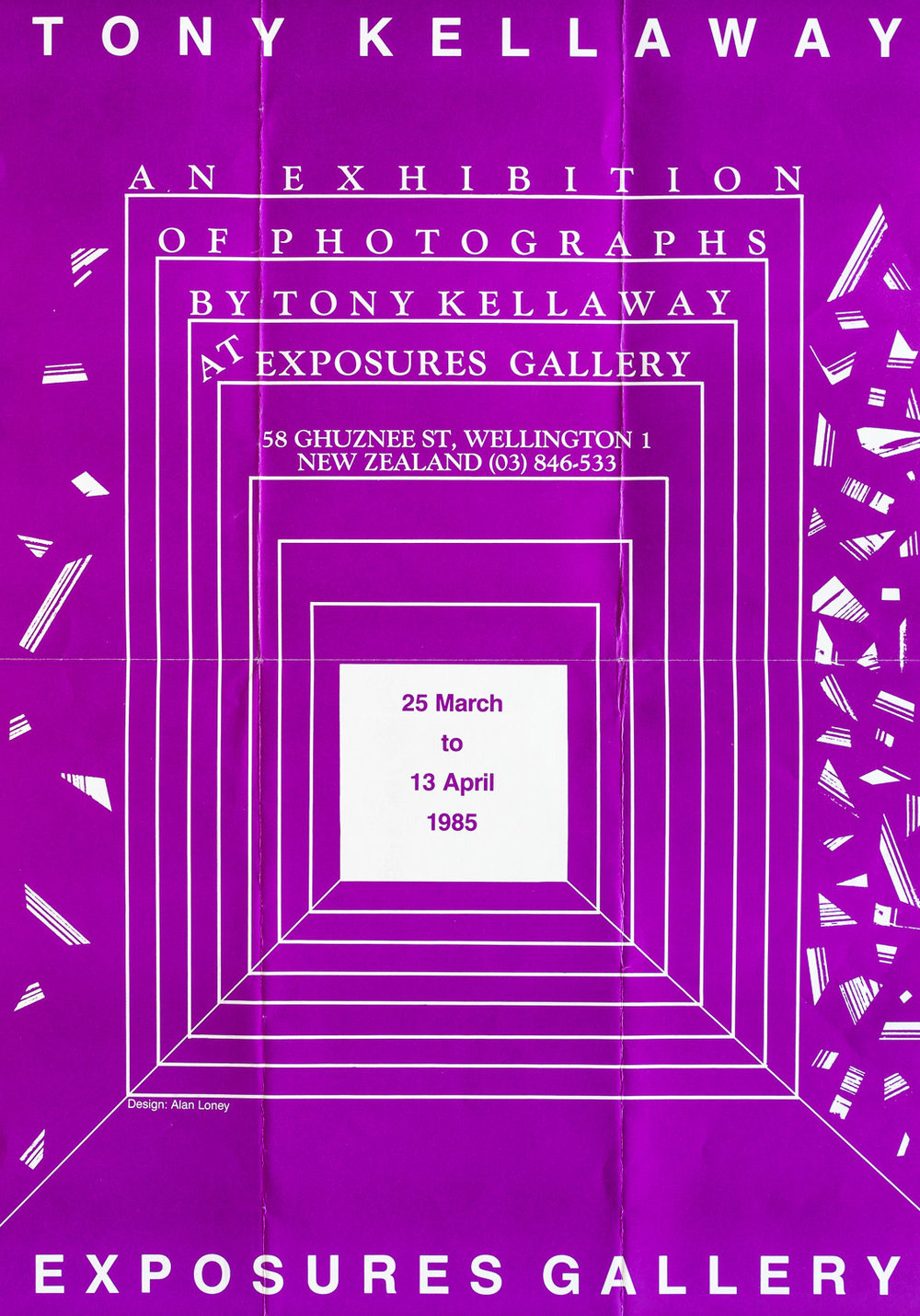 Tony Kellaway25 March – 13 April, 1985. Design: Alan Loney