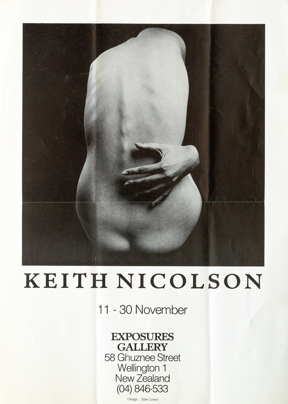 Keith NicolsonNude Studies11 – 30 November, 1985. Design by Alan Loney
