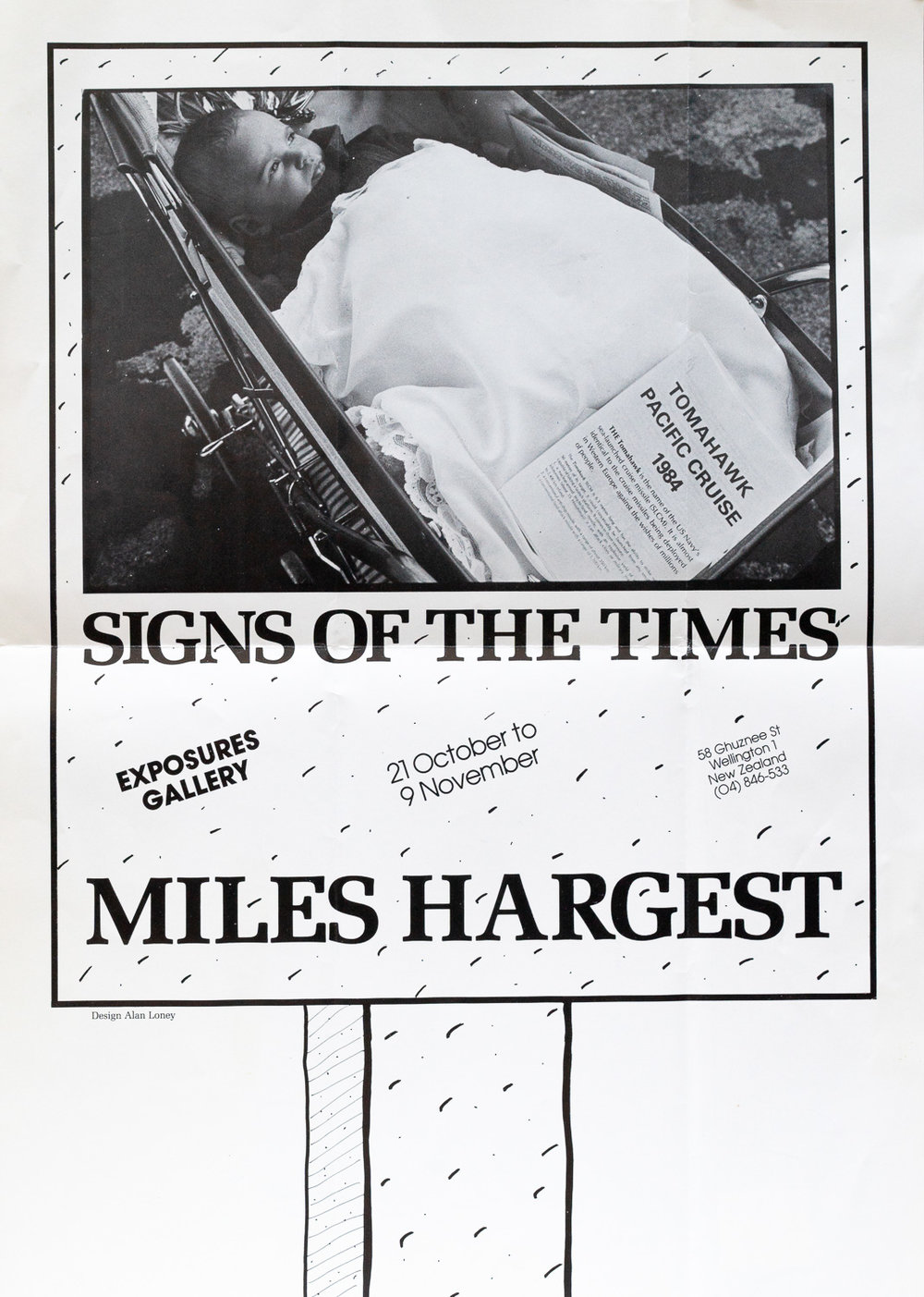 Miles HargestSigns of the Times21 October – 9 November, 1985. Design by Alan Loney