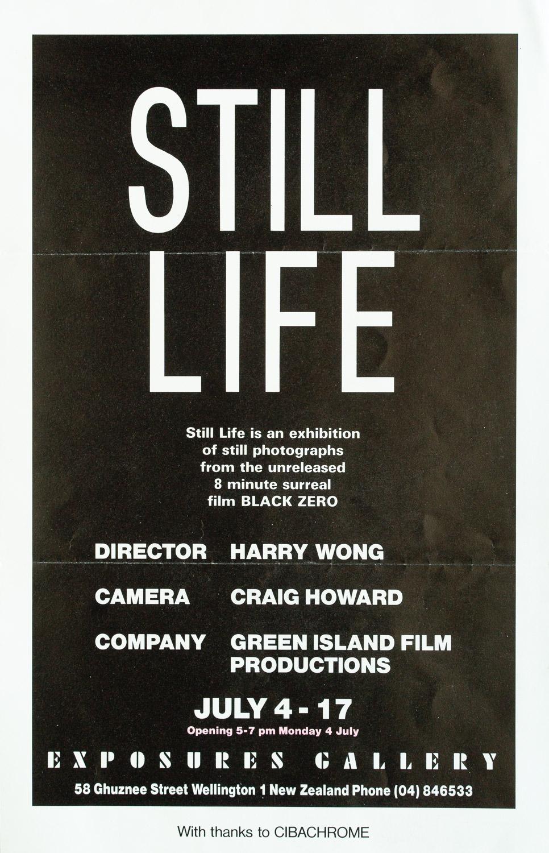 """Harry WongStill Life – Stills from """"Black Zero""""4 – 17 July 1988"""