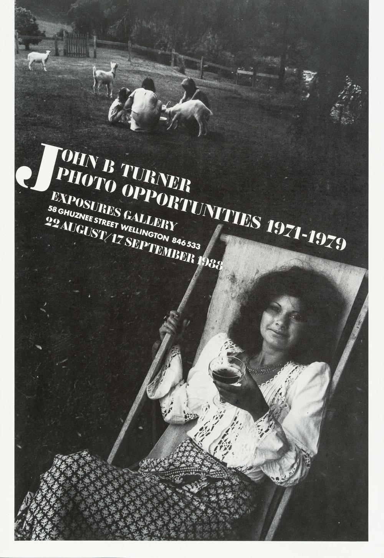 John B. TurnerPhoto Opportunities 1971 - 197922 August – 17 September 1988