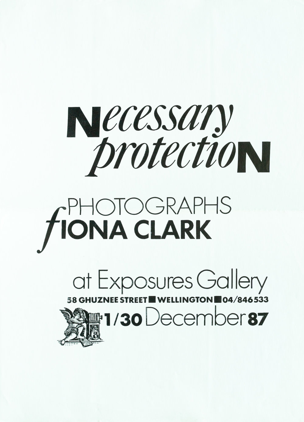 Fiona ClarkNecessary Protection1 – 30 December 1987