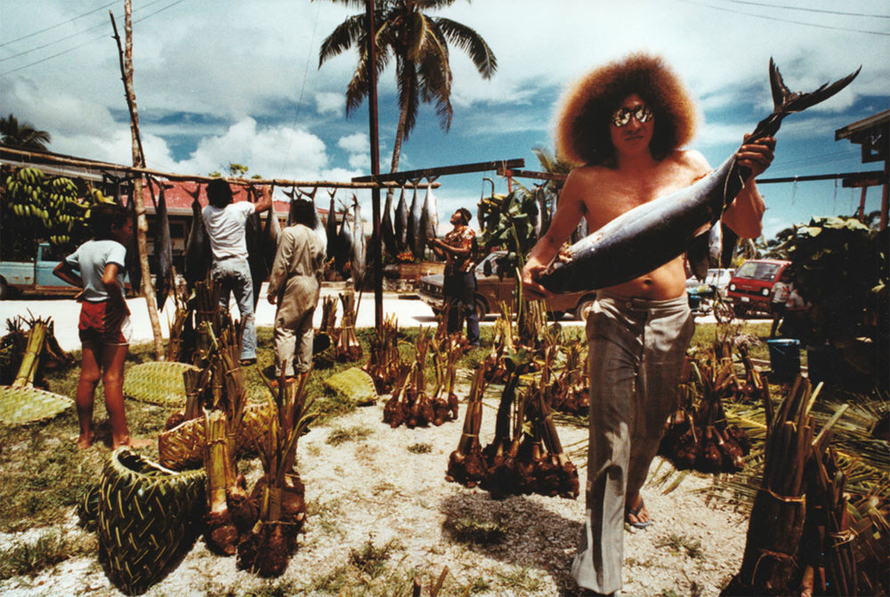 Glenn Jowitt,  Alofi, Niue, Food Division for Ear Piercing Ceremony,  1982 cibachrome 265mm x 395mm