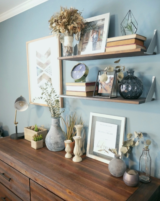 Our Fifties Fixer Upper Shelf Styling Tips