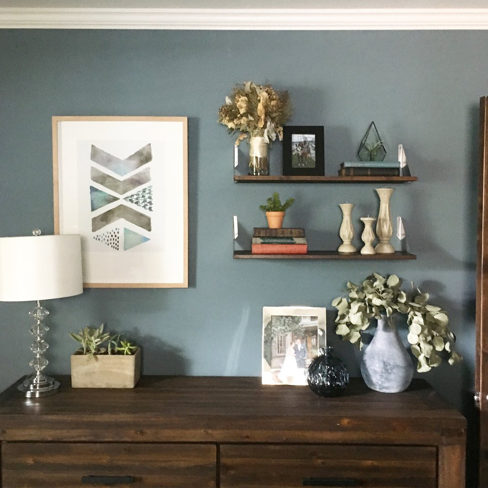 Our Fifties Fixer Upper: Shelf Styling Tips