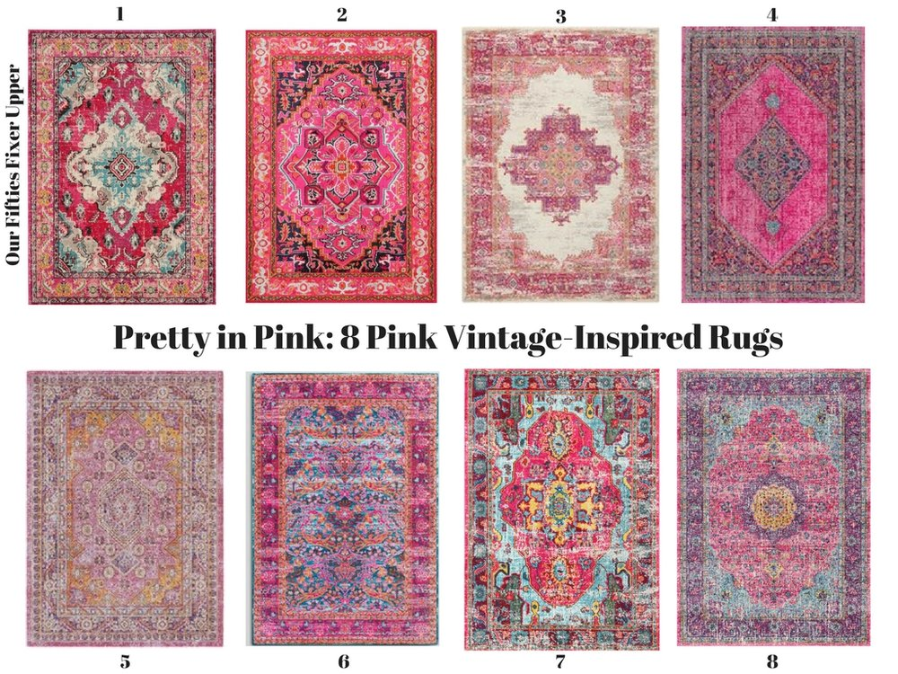 Pretty in Pink: 8 Pink Vintage-Inspired Rugs