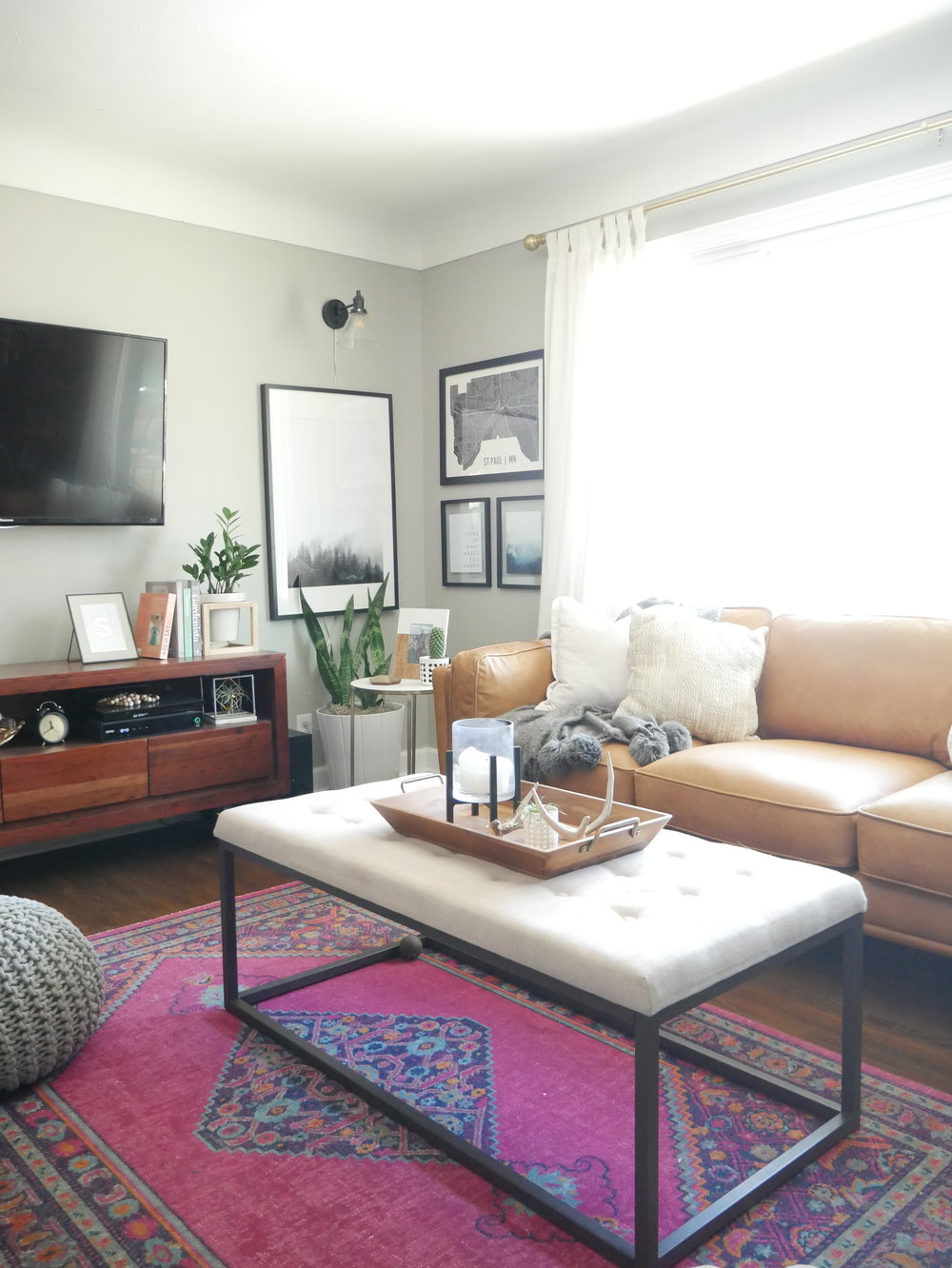The Latest Living Room Update: Our New Article Sofa — Our Fifties ...