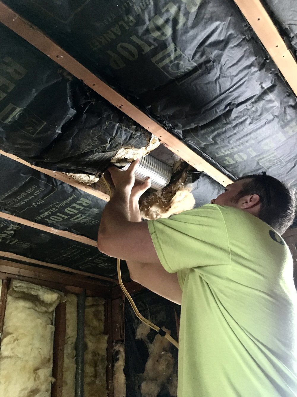 Vent fan installation: ORC Week 3, Our Fifties Fixer Upper