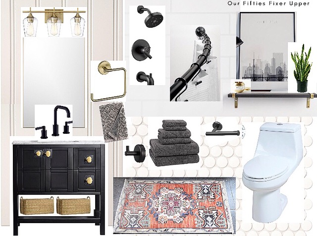 bathroom moodboard | Our Fifties Fixer Upper