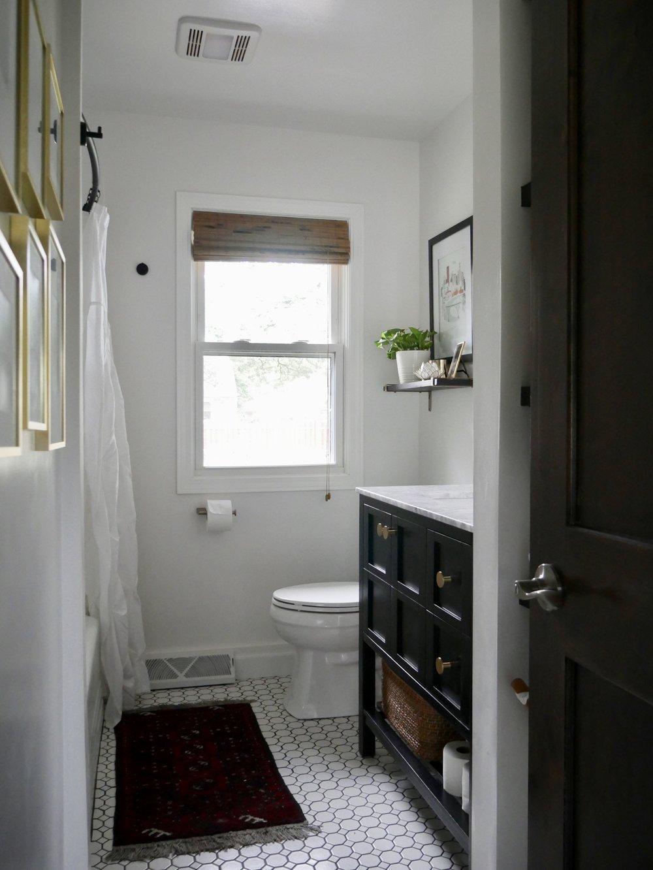Our Fifties Fixer Upper: Hallway Bathroom