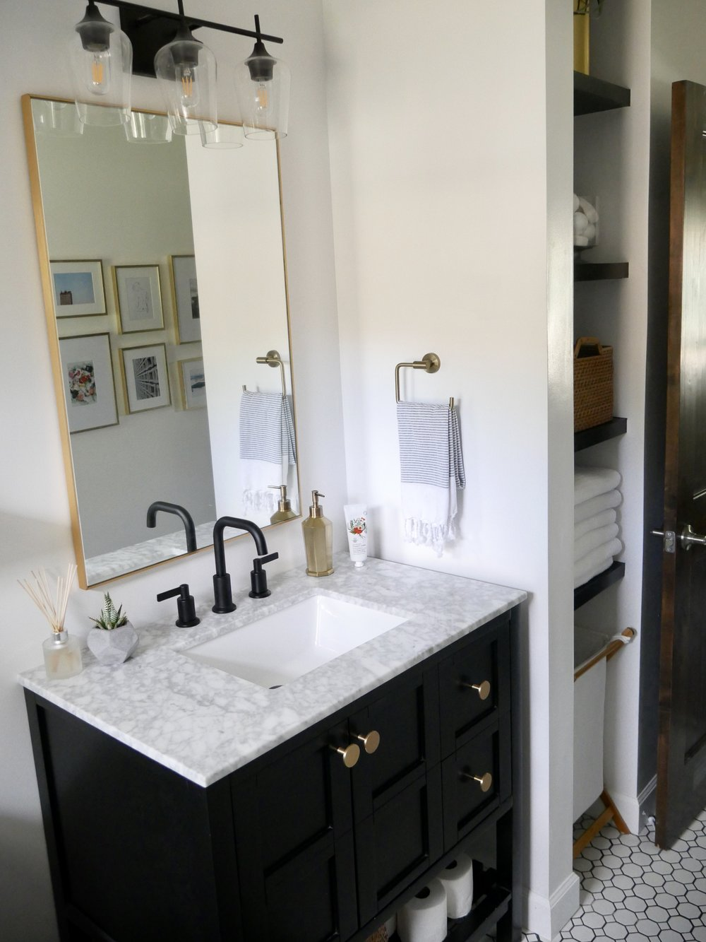 Our Fifties Fixer Upper: Hallway Bathroom