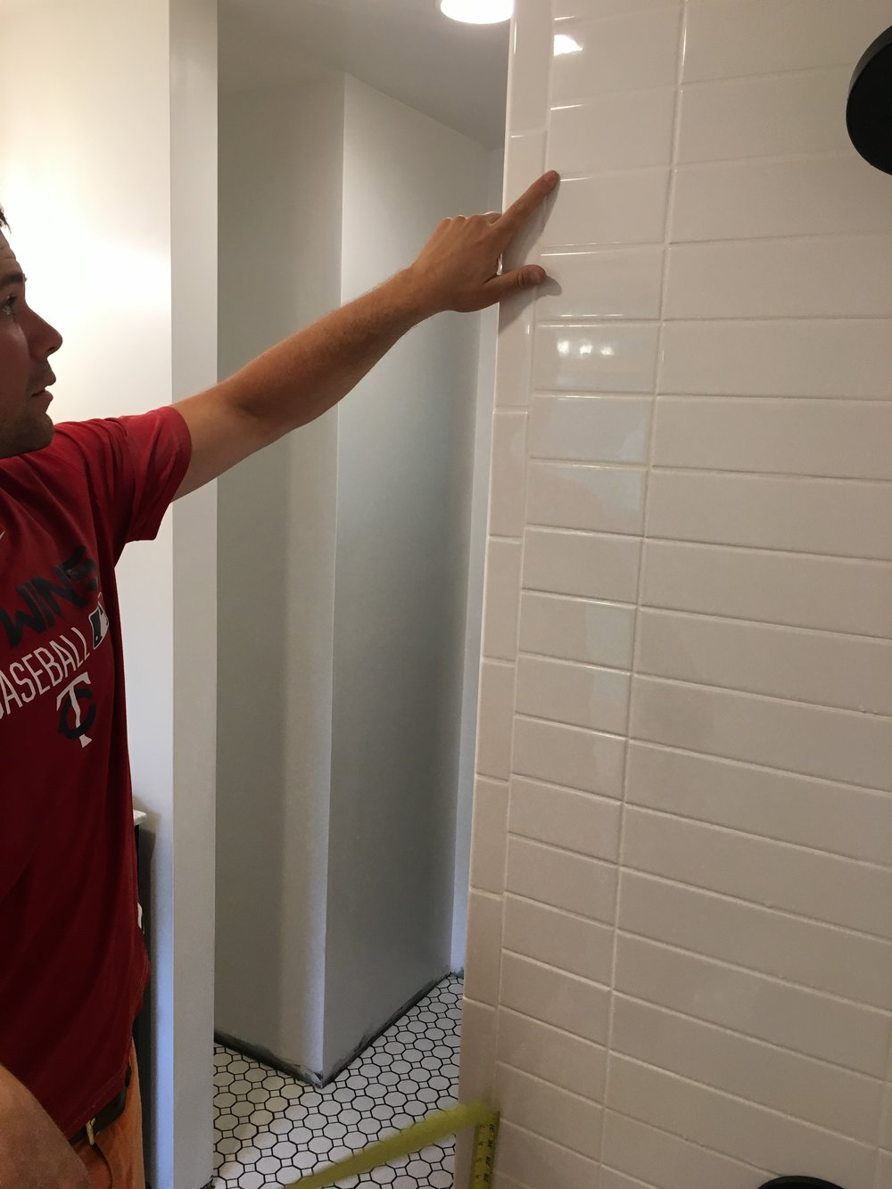 How to Install a Shower Rod on a Tile Wall — Our Fifties Fixer Upper