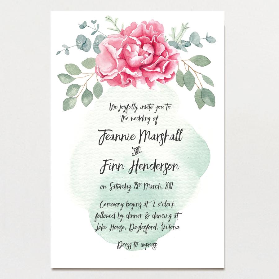 Peony Wedding Invitation — The Paper Pinwheel