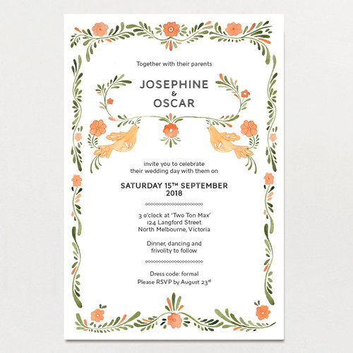 Mexican amor wedding invitation the paper pinwheel mexican amor wedding invitation stopboris Images