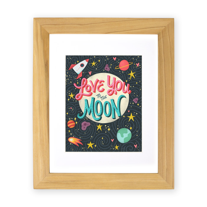 Love you to the Moon art print | Home Again Creative