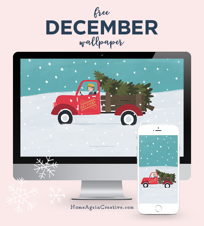 Free December Desktop Wallpaper | Home Again Creative