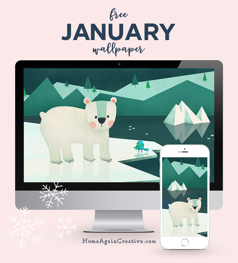Free January Desktop Wallpaper | Home Again Creative