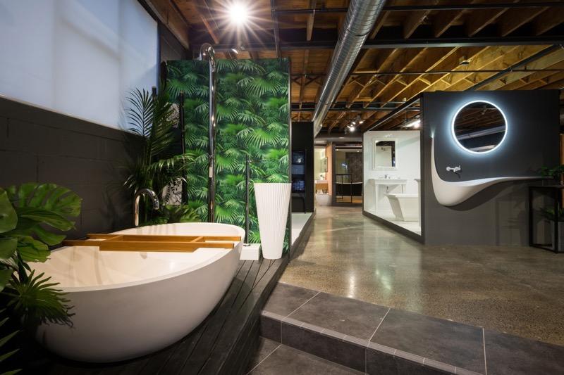 The inspiring Plumbline showroom in Auckland
