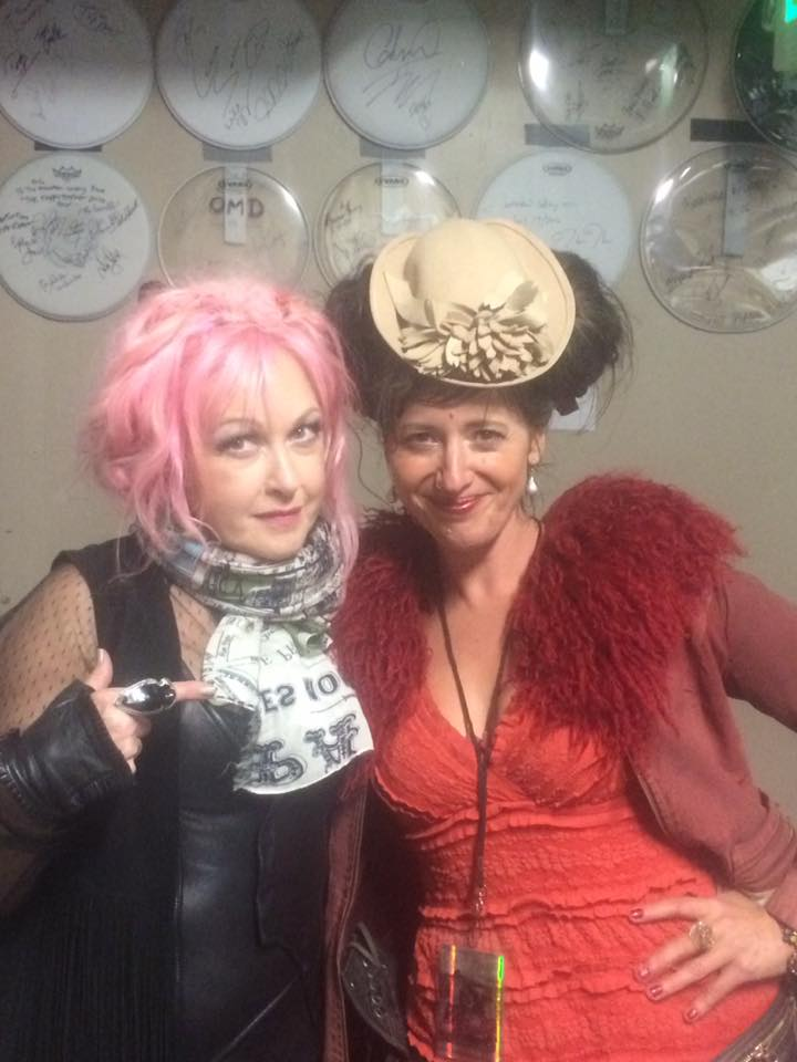 Cyndi liked my hat.  Which pretty much validated my entire life.
