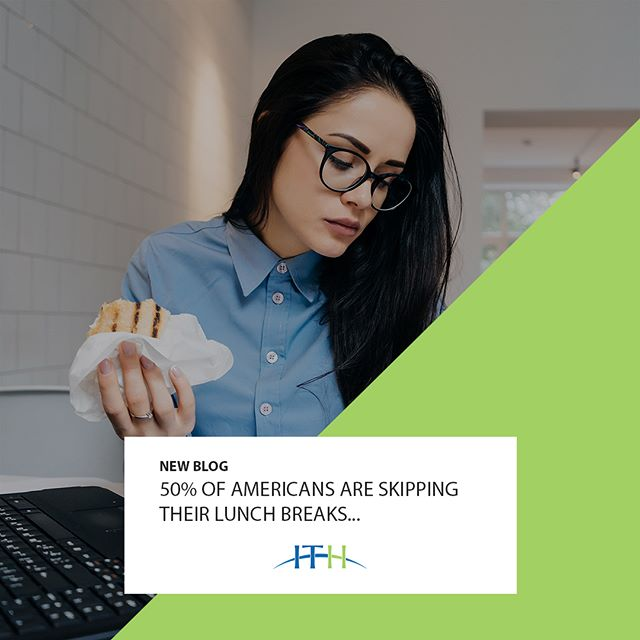 NEW BLOG: 50% of Americans Are Skipping Their Lunch Breaks! - For one in two people, lunchtime is for crunching and cramming in more work. We shove snacks or meal-preps into our mouths while we type, plan, calculate, and schedule meetings. - Click the link in our bio to learn more about why this is unhealthy not only physicaly but also mentaly. #Lunchbreaks #9to5 #jobs #ITHStaffing