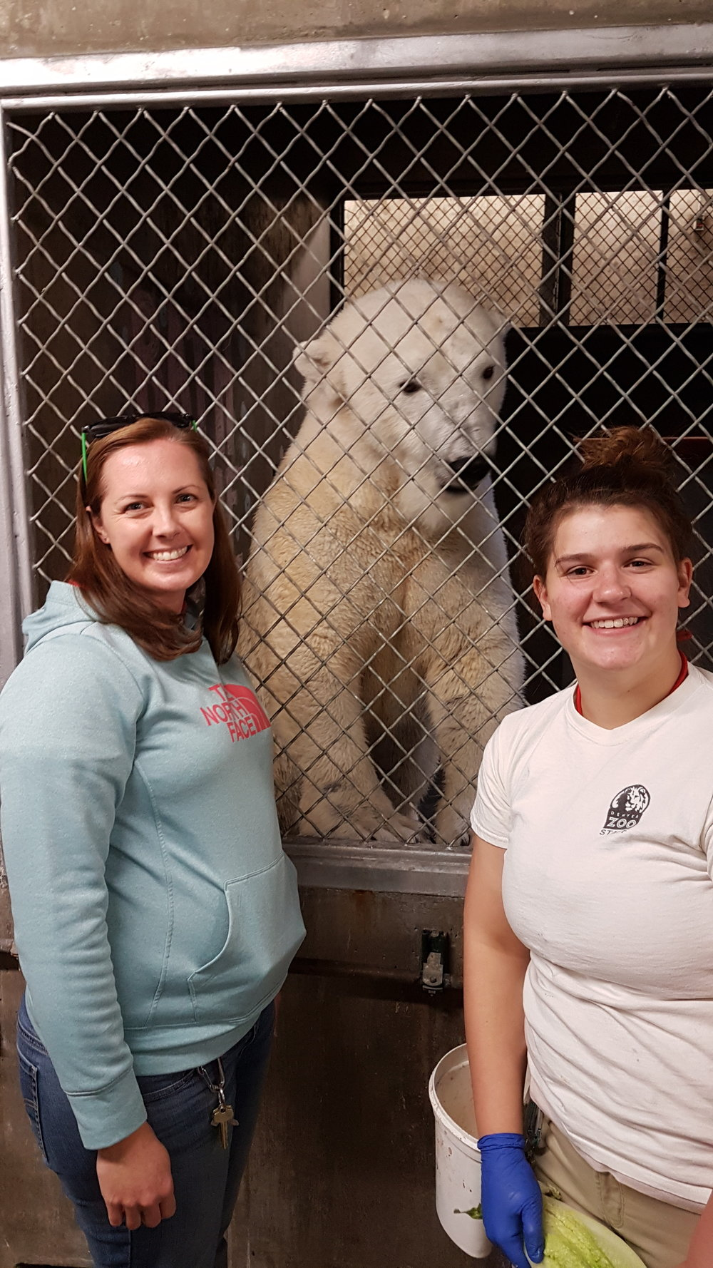 Meryt and Abby, two of Cranbeary's zookeepers at the Denver Zoo.