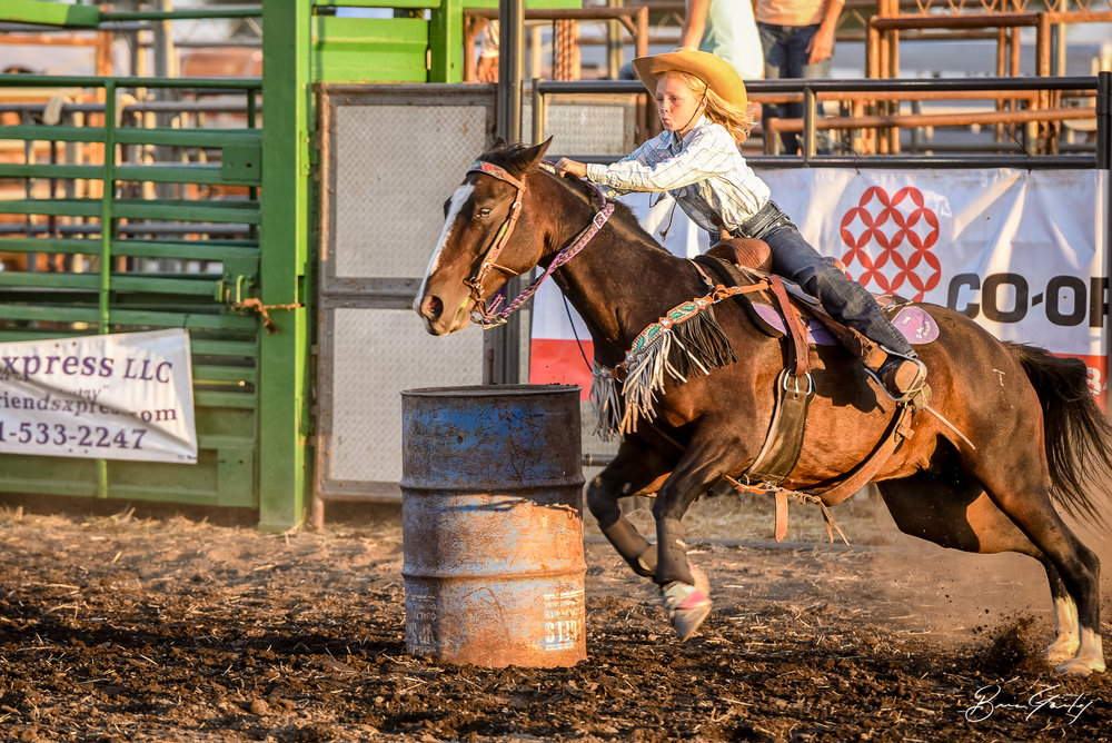 One of the fastest times of the night was completed by this cowgirl. Image: Brian Gailey  Tulelake Butte Valley Fair 2017