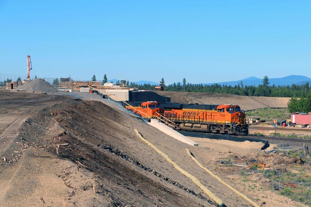 The Oregon Department of Transportation halted construction of a highway overpass over the railroad in May after settling caused concern for the structure. (ODOT/Submitted photo)