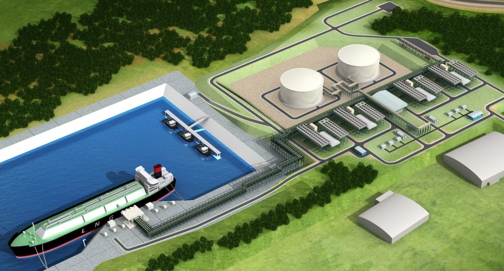 Artists Rendering of the proposed LNG Terminal - Jordan Cove (Submitted)
