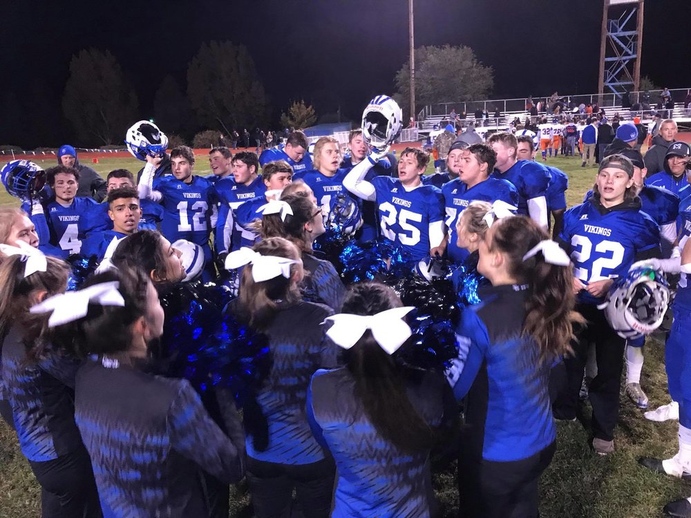 Final | Game of the Week - Hidden Valley at Mazama It's a final from Viking field. Mazama wins over Hidden Valley 61-14 and improves to 6 wins, 1 loss on the season.  (Brian Gailey)