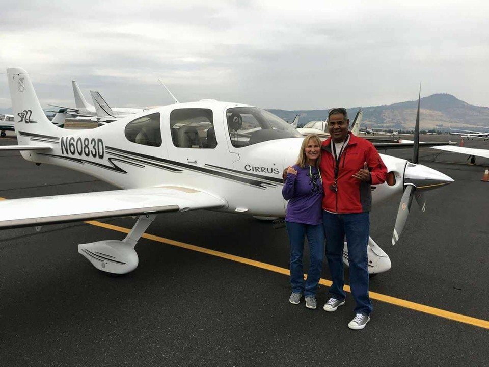 Juan Canopii and wife Chantal standing in front of the aircraft that later crashed in Western Klamath County. Taking the life of the pilot and passenter. (Submitted Photo)