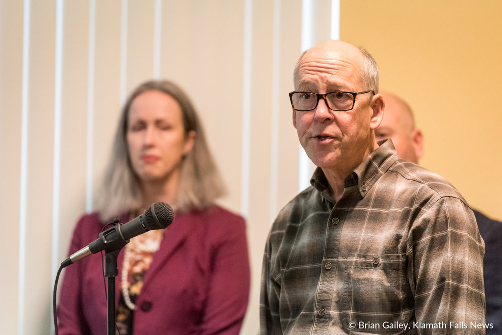Congressman Greg Walden visits Klamath Falls to announce the Klamath Infrastructure Improvement Act. (Brian Gailey)