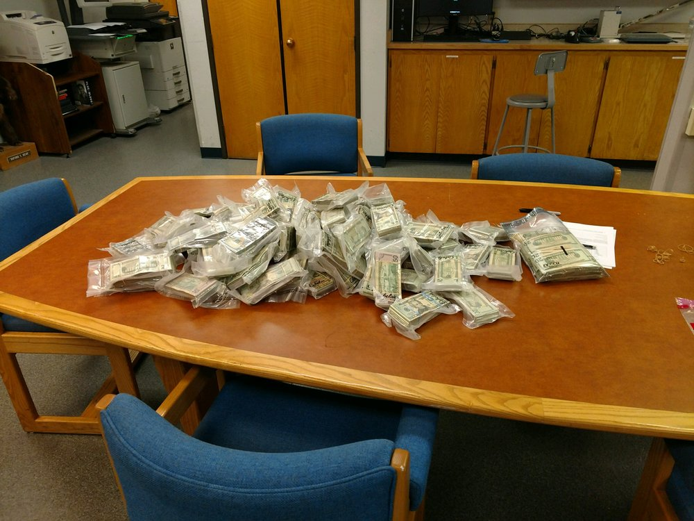 $444,030 and Various Drugs Seized in OSP Traffic Stop in Klamath Falls. (Oregon State Police)