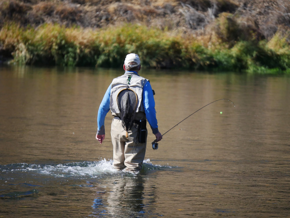 Fishing at the Big Pines Recreation Site on the Yakima River (BLM)