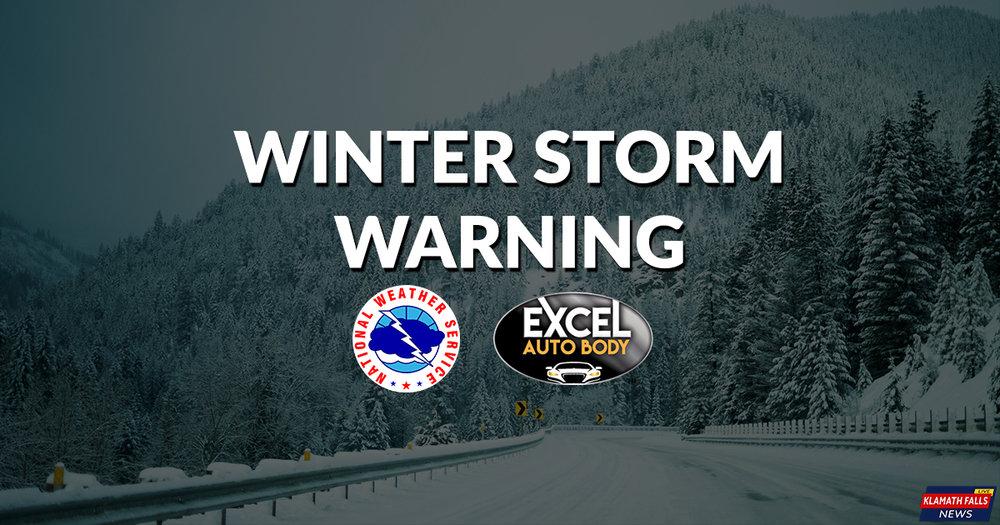 Winter Storm Warning, Siskiyous / Winter Weather Advisory, Cascades Sunday, Jan 21, 2018, 4:00 AM to Monday, Jan 22, 2017, 1:00 AM