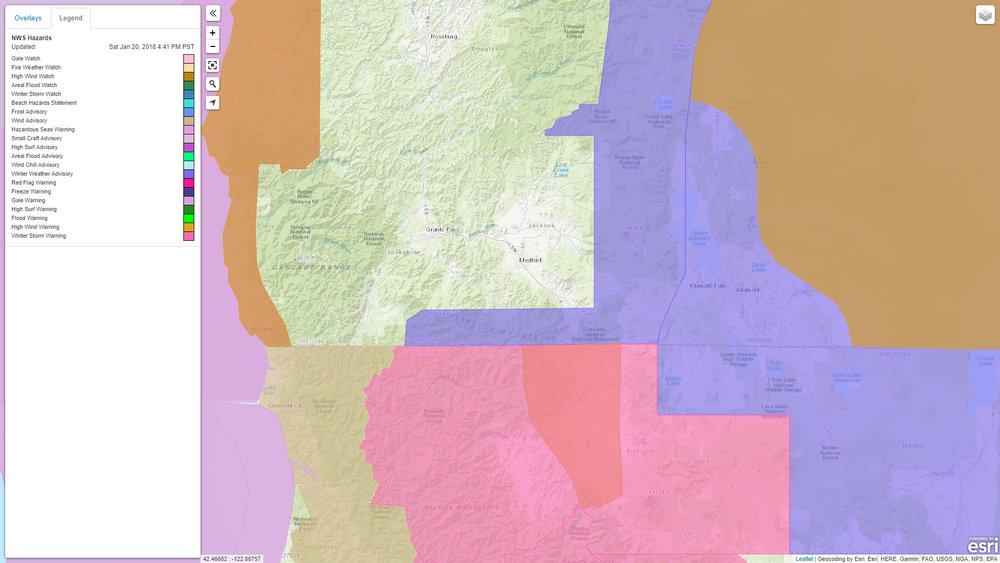 http://www.wrh.noaa.gov/map/#