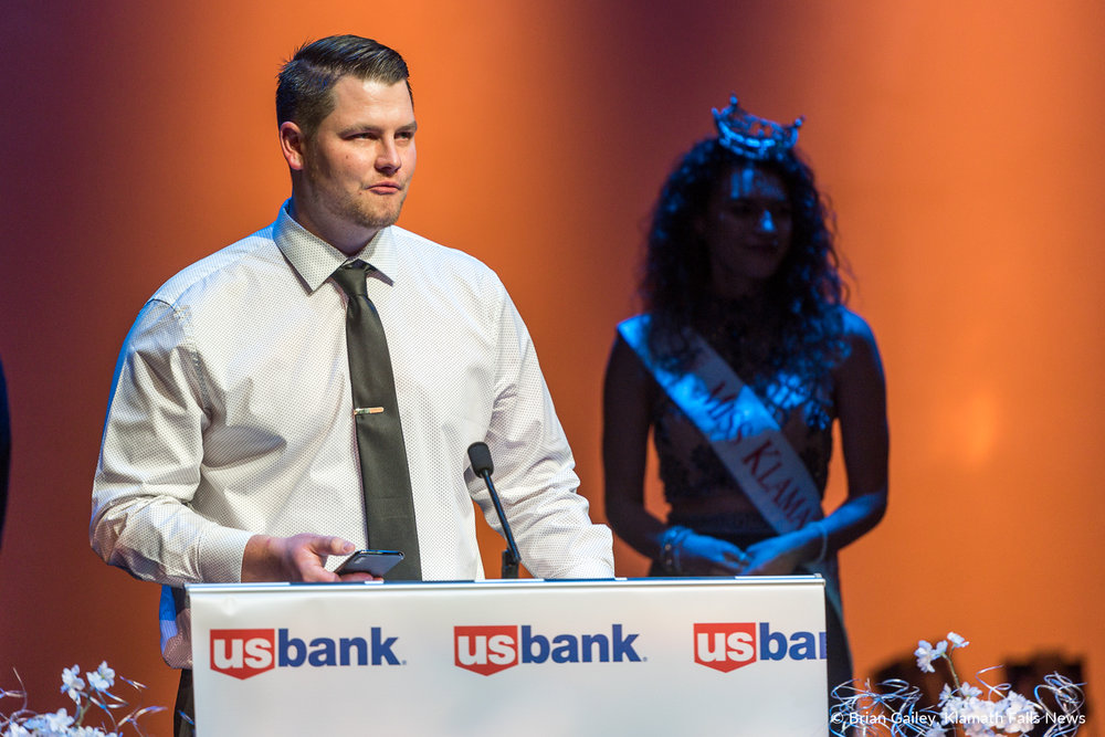 Matt Bogatay, Bogatay Construction, accepts the award for Best Place to Work 15 Employees or Less.  97th Annual Chamber Gala Awards. (Brian Gailey)