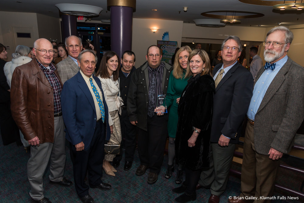 Klamath Works stands with their award following the 97th Annual Chamber Gala Awards. (Brian Gailey)