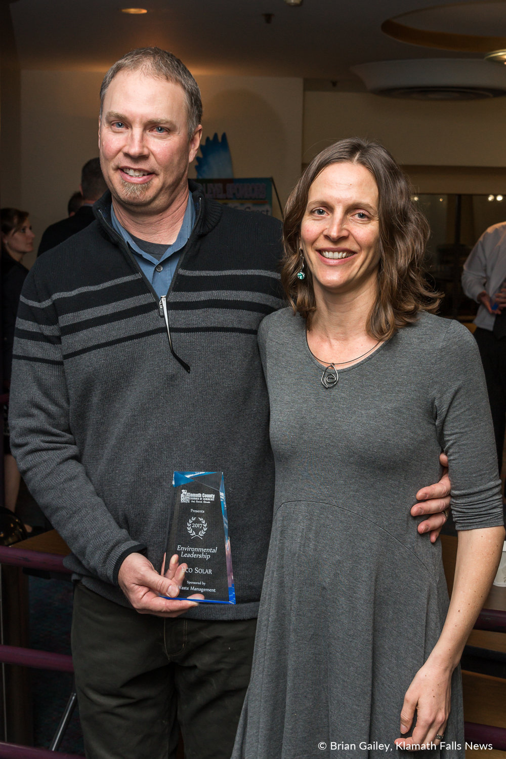 Eco Solar stands with their award following the 97th Annual Chamber Gala Awards. (Brian Gailey)