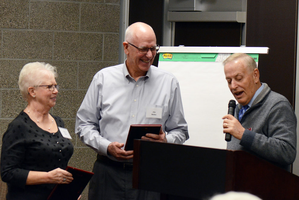 Jim and Sherry Bellet honored by Klamath Community College (submitted photo)