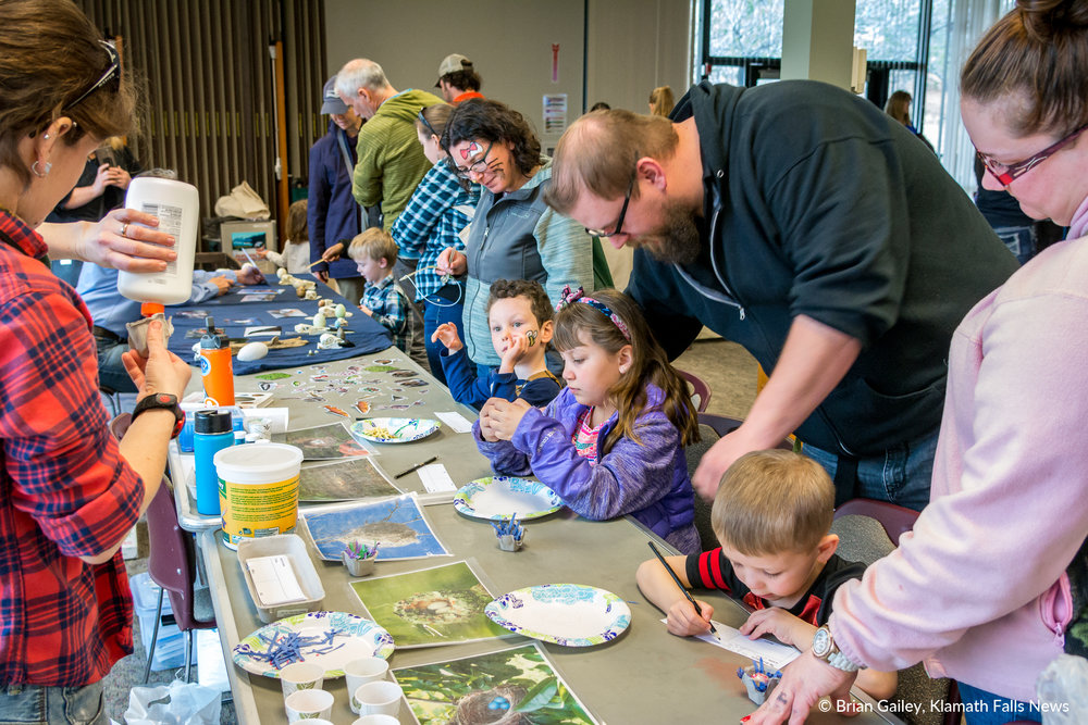 Children's Activities at the 39th Annual Winter Wings Festival entertained children of all ages. February 17, 2018. (Brian Gailey)
