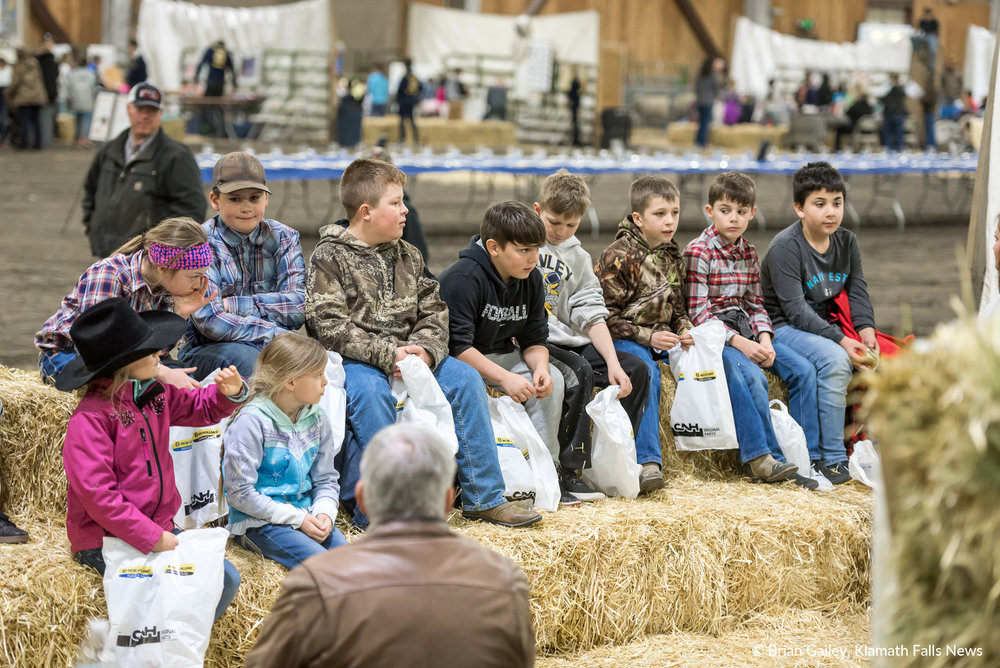 """Students attend the Farm Expo to learn, """"Where does food come from?"""" February 21, 2018 (Brian Gailey)"""
