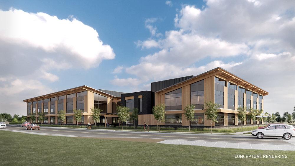 Conceptual Rendering, Oregon Department of Human Services MultiService Center in Klamath Falls, Ore. (Klamath Falls Holdings, LLC)