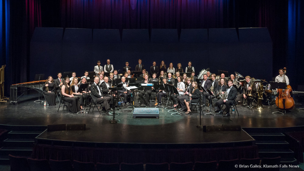 The Klamath Falls Community Band. March 18, 2018 (Brian Gailey)