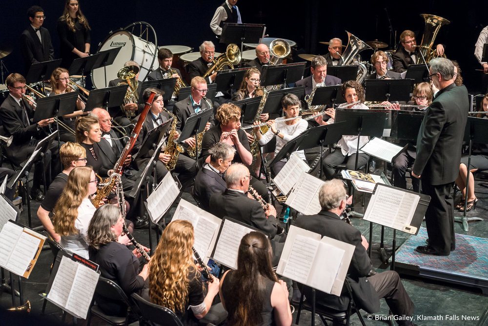 The Klamath Falls Community Band performs their Spring Concert, Bits and Pieces. March 18, 2018 (Brian Gailey)