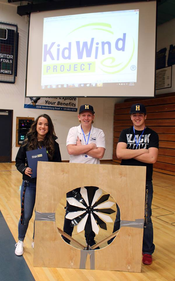 Team Blade Runner took first place in the home-built turbine, high school division at the KidWind Challenge competition. (Samantha Tipler, KCSD)