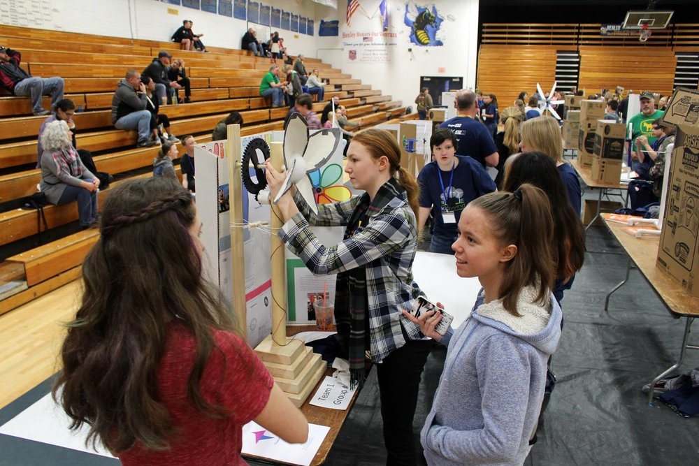 About 100 students in 36 teams competed at the second-annual  KidWind Project Challenge engineering competition on Saturday, March 10. Students competed from Henley High School, Henley Middle School and Brixner Junior High School. (Samantha Tipler, KCSD)
