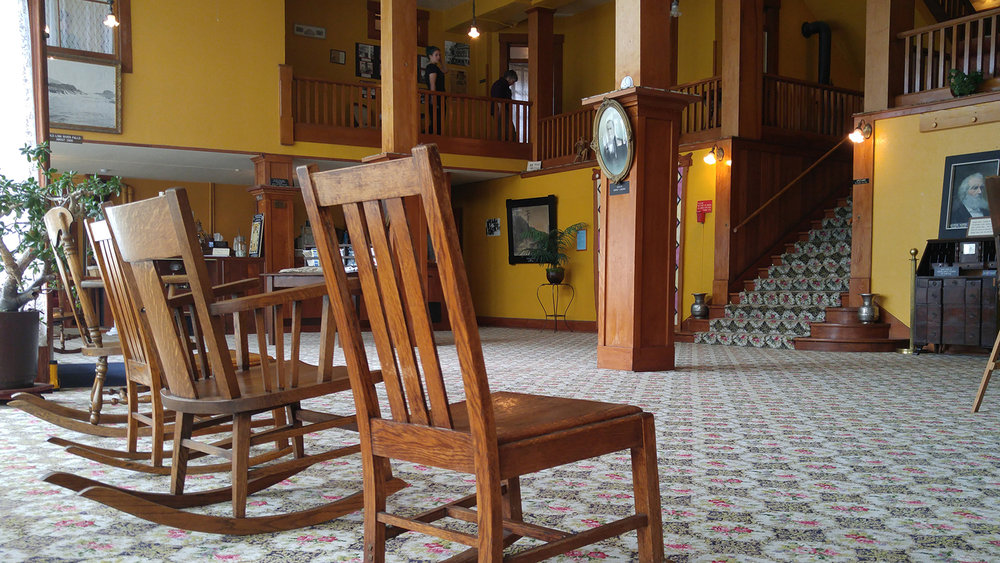 Antique rocking chairs are part of the collection at the Baldwin Hotel Museum. (Submitted Photo).