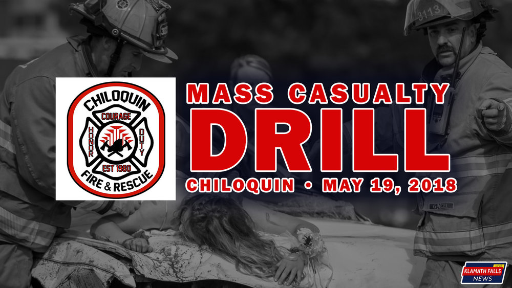 Chiloquin Fire and Rescue to hold a live Mass Casualty drill on May 19, 2018 in Chiloquin, Ore. Image, Brian Gailey / Klamath Falls News.